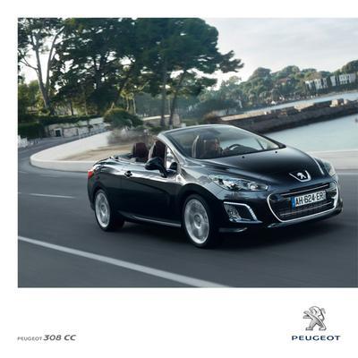 Brochure Peugeot 308 CC 2011