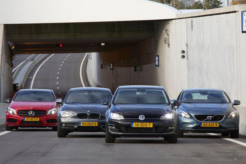 BMW 1-serie - Mercedes-Benz A-klasse - Volvo V40 - Volkswagen Golf