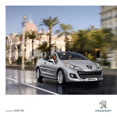 Brochure Peugeot 207 CC 2011