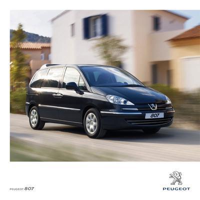 Brochure Peugeot 807