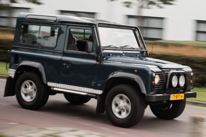 Op de rollenbank - Land Rover Defender