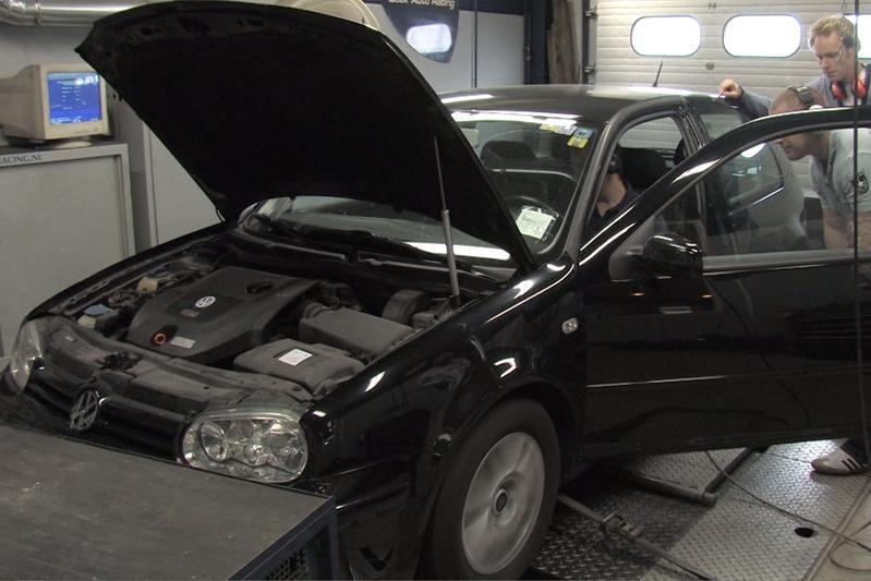 Op de rollenbank - Volkswagen Golf TDI