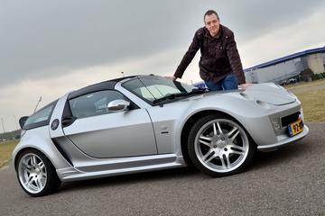 Op de rollenbank - Smart Roadster Brabus