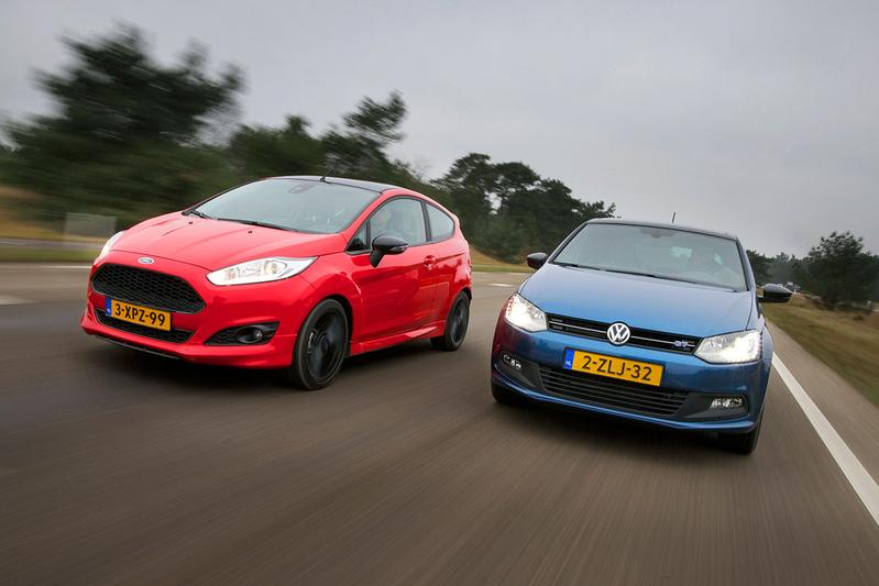 Dubbeltest - Ford Fiesta Red vs. Volkswagen Polo BlueGT