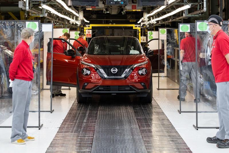 Sunderland Nissan fabriek corona Juke