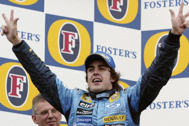 Fernando Alonso Renault 2005 (foto ANP)