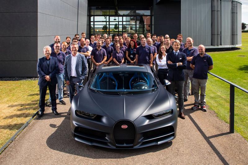 Bugatti Chiron 110 Ans mijlpaal