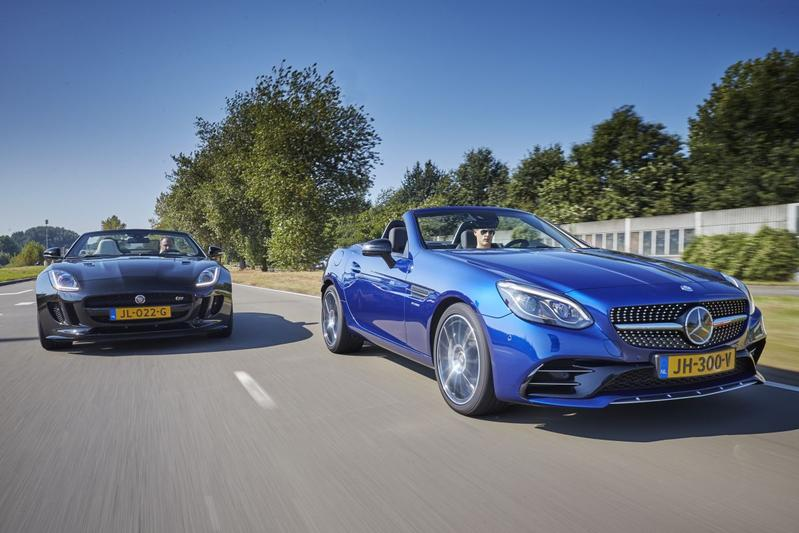 Jaguar F-Type vs. Mercedes-AMG SLC