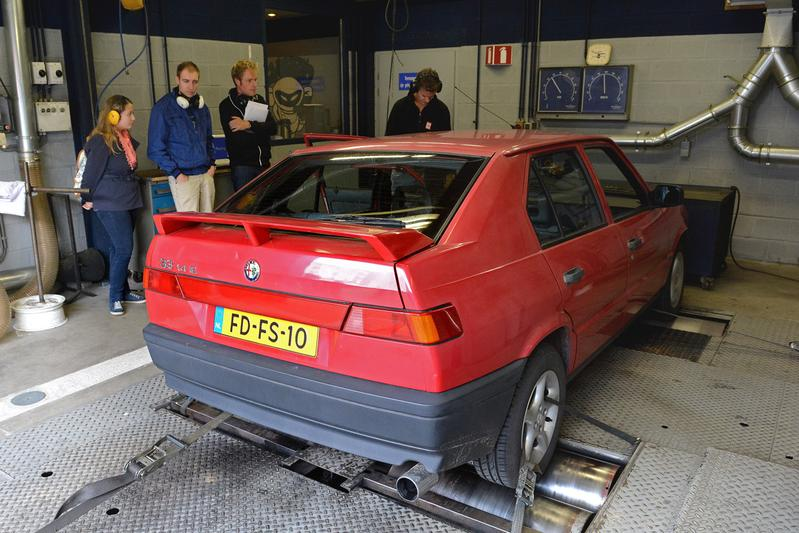 Op de rollenbank - Alfa Romeo 33