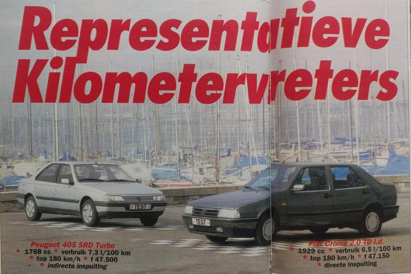 Peugeot 405 vs. Fiat Croma - Uit de Oude Doos