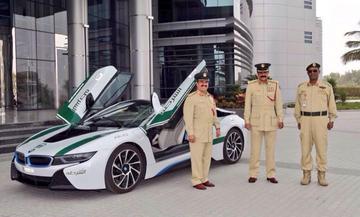 BMW i8 zuinigste auto in politievloot Dubai