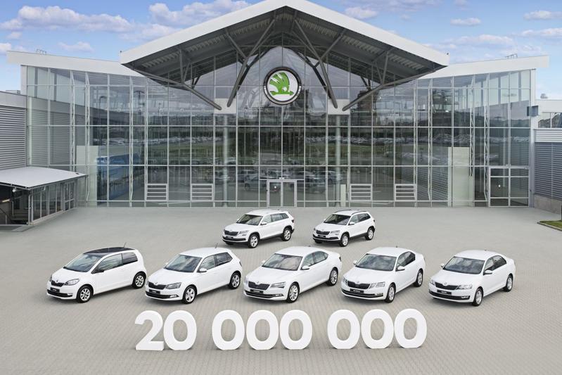Skoda bouwt zijn 20 miljoenste auto