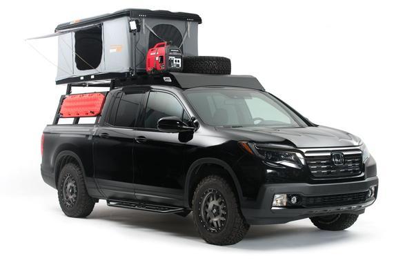 Honda gaat met Ridgeline kamperen op Sema