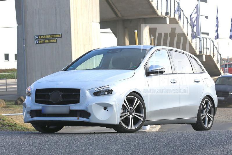 Nieuwe Mercedes-Benz B-klasse gesnapt