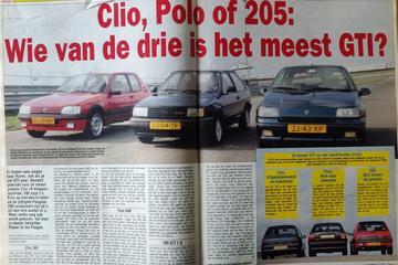 Renault Clio 16v vs. VW Polo G40 vs. Peugeot 205 GTI - Uit de Oude Doos