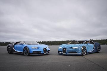 Levensgroot: Bugatti Chiron van Lego