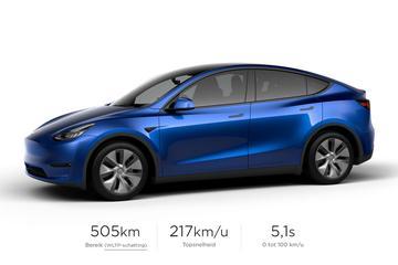 Tesla Model Y nu al aangepast