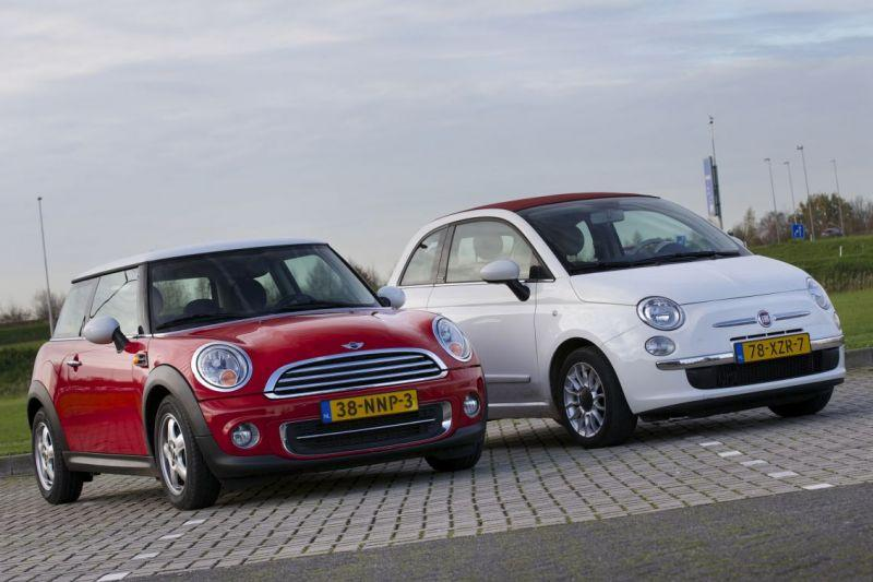 Occasiontest - Fiat 500C (2012) vs Mini Cooper (2010)