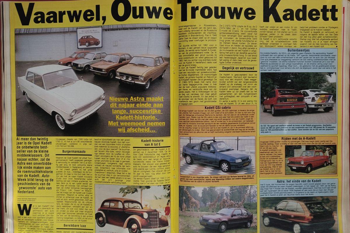 Opel Kadett AutoWeek 6 1991