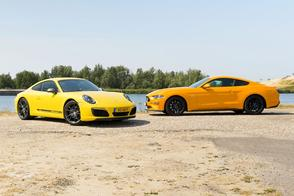 Ford Mustang GT vs. Porsche 911 Carrera T - Dubbeltest