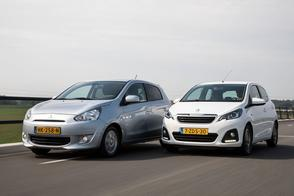 Mitsubishi Space Star vs. Peugeot 108 - Occasiontest