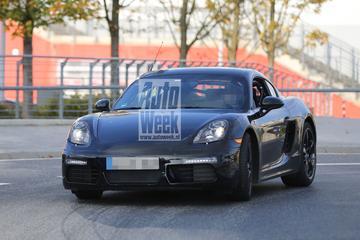 Verse Porsche Cayman maakt eerste meters