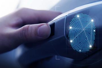 In detail: vingerafdrukscanner Hyundai Santa Fe