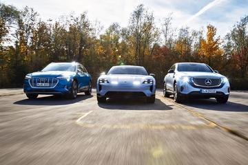 Audi E-Tron - Mercedes-Benz EQC - Porsche Taycan Cross Turismo