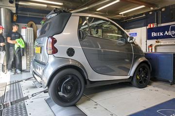 Smart City Coupé cabrio - Op de Rollenbank