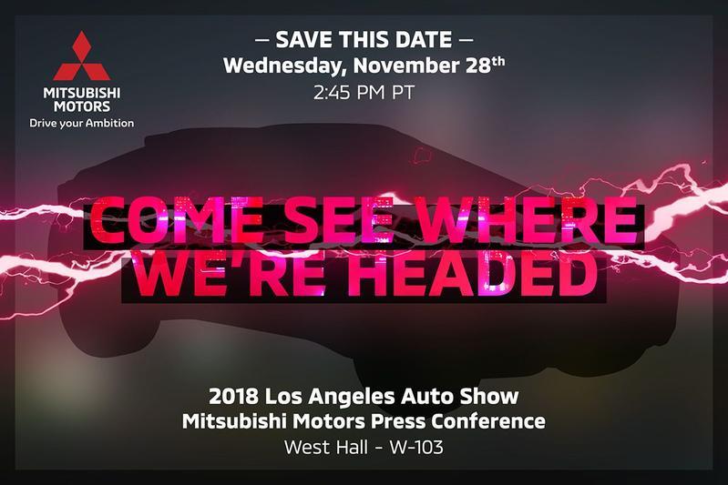 Mitsubishi LA Motor Show teaser