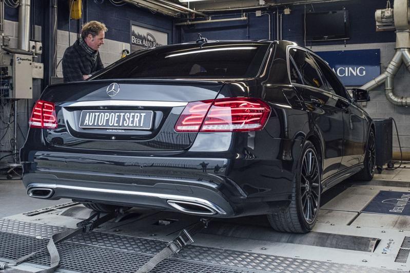 Mercedes-Benz E 400 4Matic - Op de Rollenbank