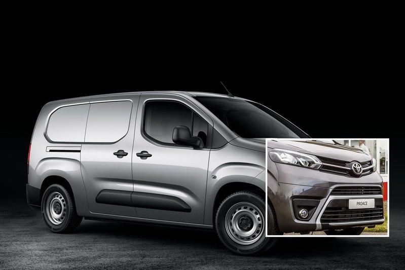 Toyota Peugeot Partner busje photoshop PSA