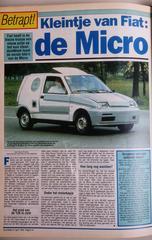 Toen in het nieuws: de Fiat Micro!