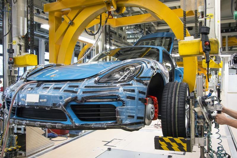 Porsche fabriek productie Leipzich