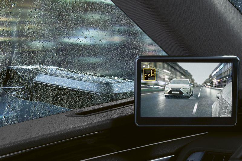 Lexus ES 300h digitale zijspiegels