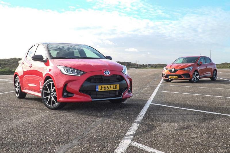 Renault Clio E-Tech Hybrid vs. Toyota Yaris - dubbeltest
