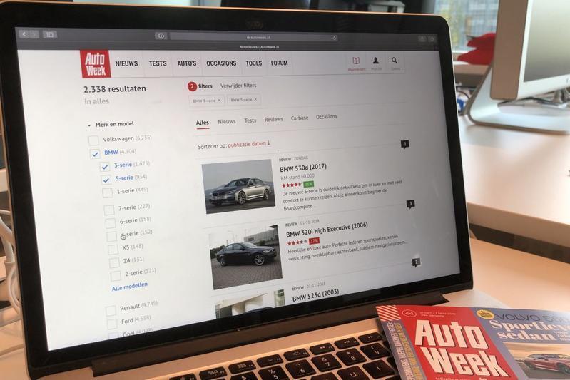 AutoWeek.nl website 2018