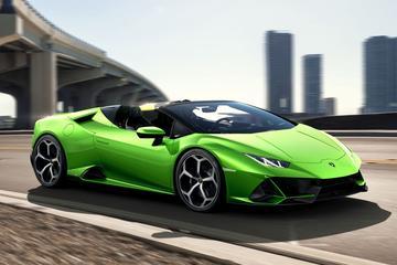 Lamborghini Huracán Evo Spyder breekt los
