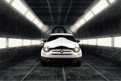 Intergalactische Fiats 500 van Garage Italia