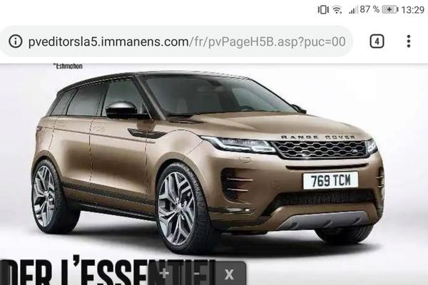 Nieuwe Range Rover Evoque duikt mogelijk op