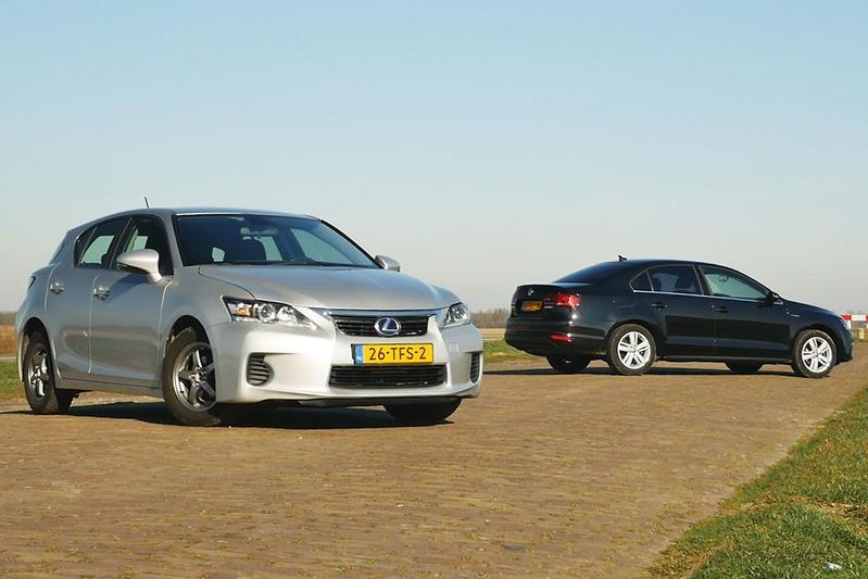 Lexus CT200h vs. Volkswagen Jetta Hybrid - Occasiontest