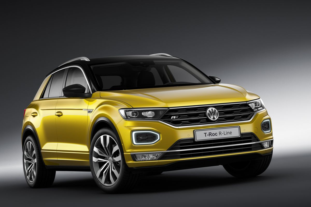 volkswagen t roc r line optische pit autonieuws. Black Bedroom Furniture Sets. Home Design Ideas