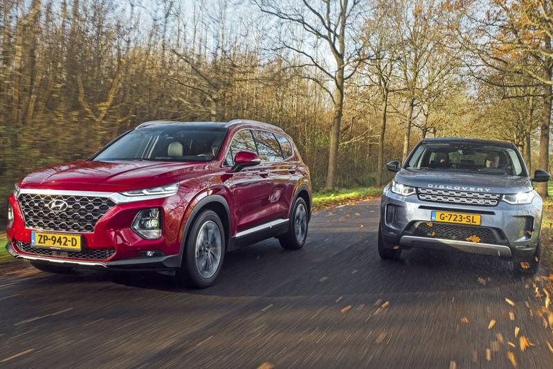 Hyundai Santa Fe – Land Rover Discovery Sport - Dubbeltest