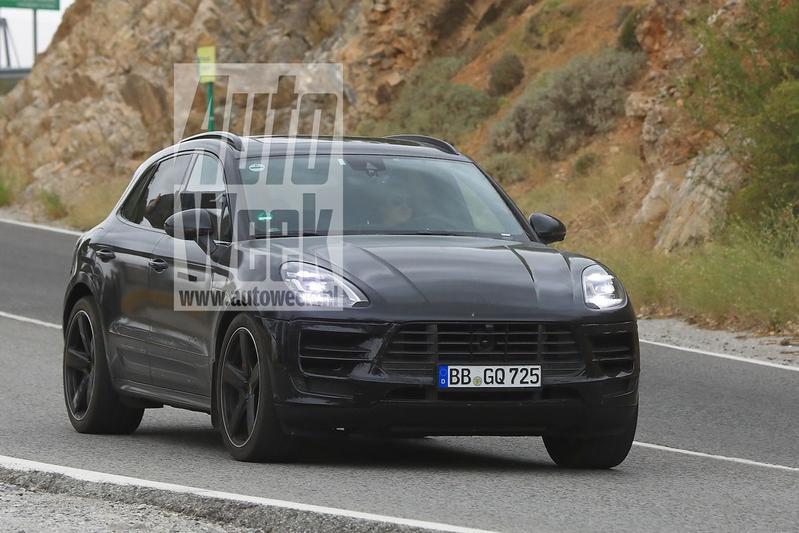 Gefacelifte Porsche Macan betrapt