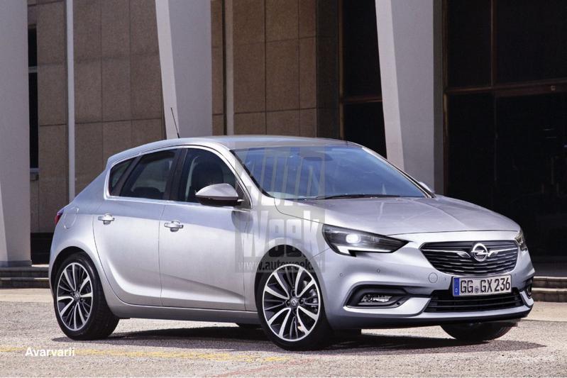 Opel Corsa blik to the future illustratie