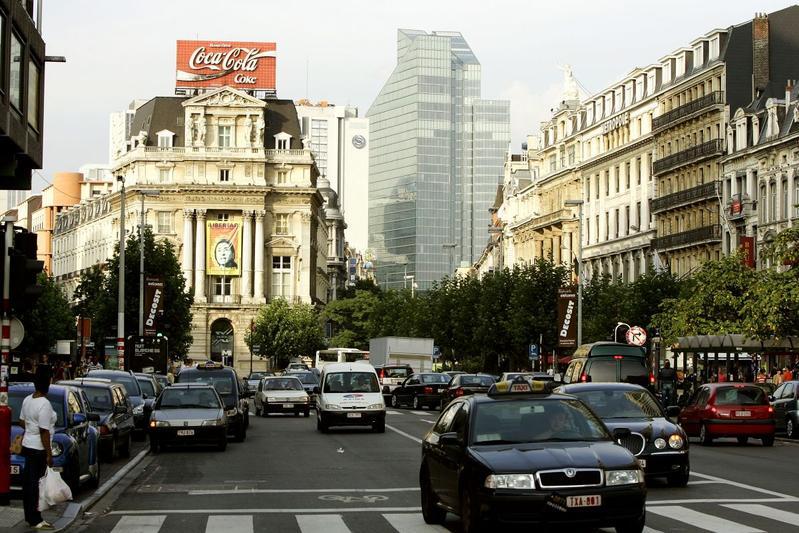 Verkeer Brussel België (foto ANP)