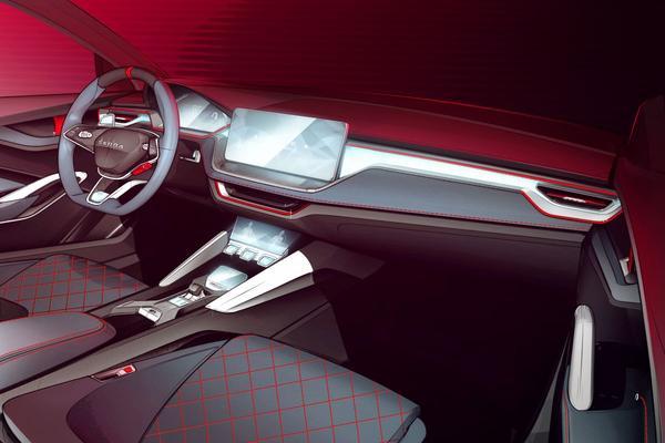 Interieur Skoda Vision RS in beeld