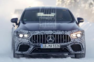 Mercedes-AMG test GT 4 Door-coupé met elektrokracht
