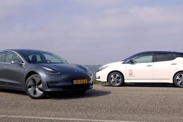 Nissan Leaf+ vs. Tesla Model 3 Standard Range Plus – AutoWeek Dubbeltest