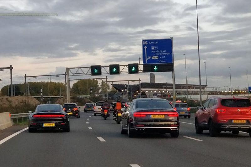 Amsterdam snelweg A10 Zuidas